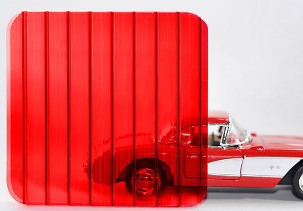 Полікарбонат стільниковий (сотовий) 4мм червоний OSCAR Сербія