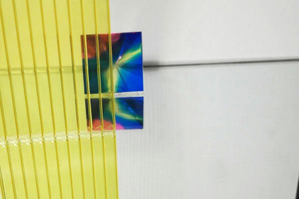 Полікарбонат стільниковий (сотовий) 6мм жовтий OSCAR Сербія